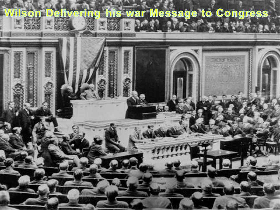 Wilson Delivering his war Message to Congress