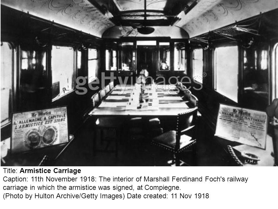 Title: Armistice Carriage