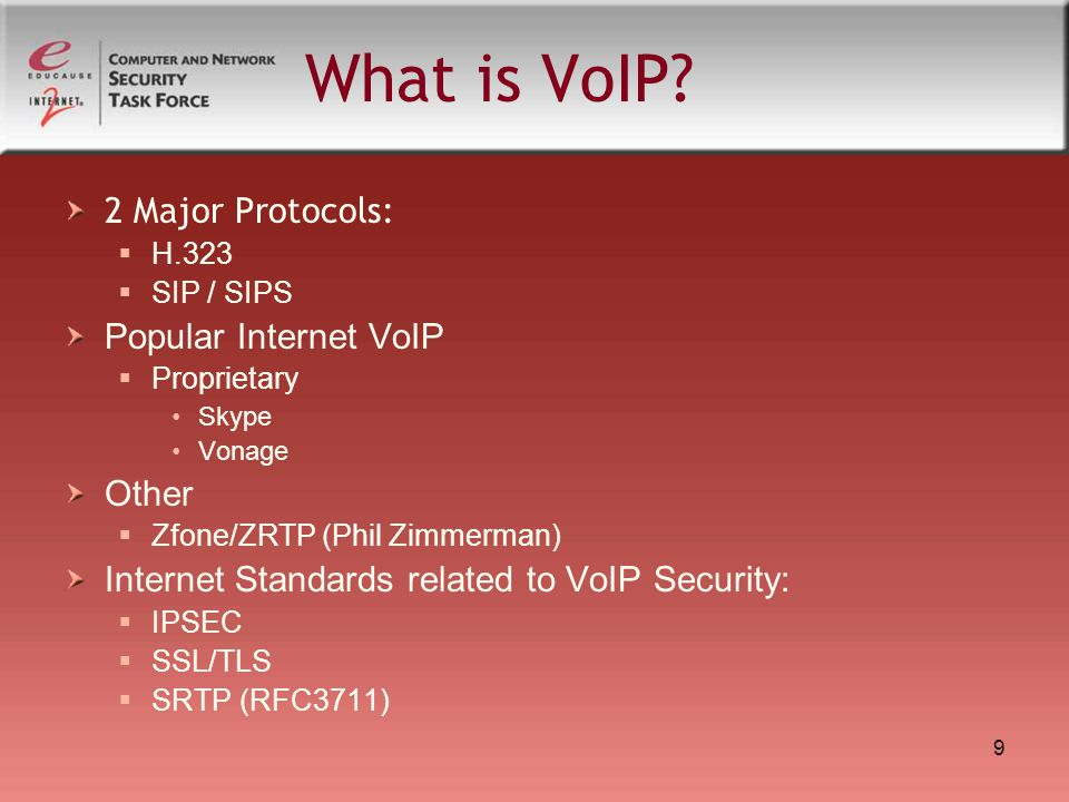 What is VoIP 2 Major Protocols: Popular Internet VoIP Other