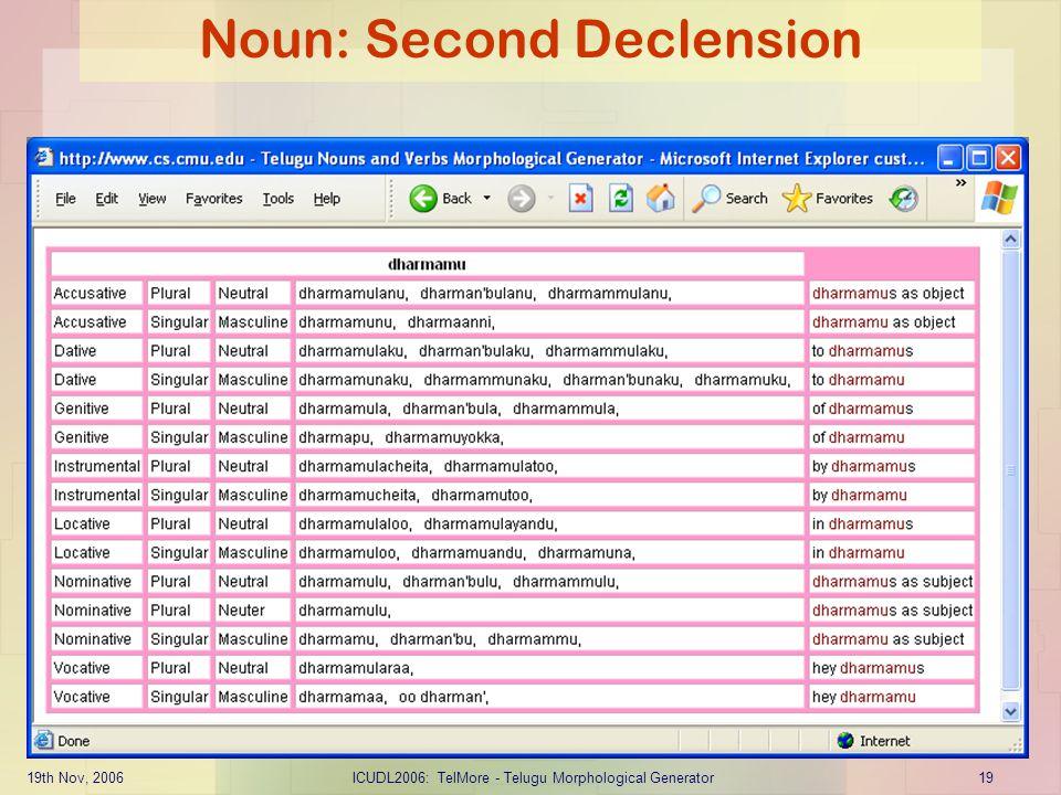 Noun: Second Declension
