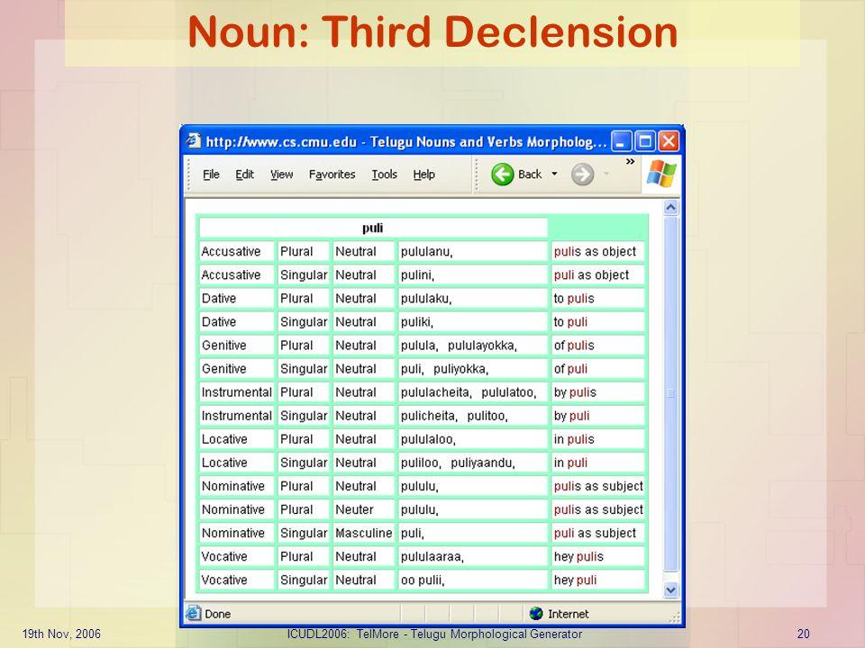 Noun: Third Declension