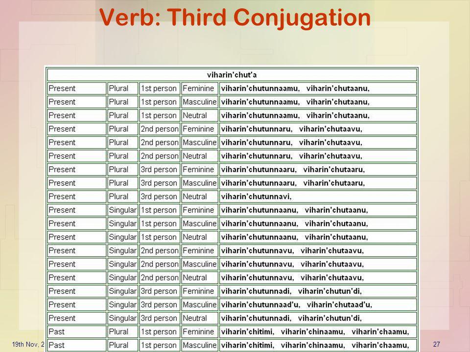 Verb: Third Conjugation