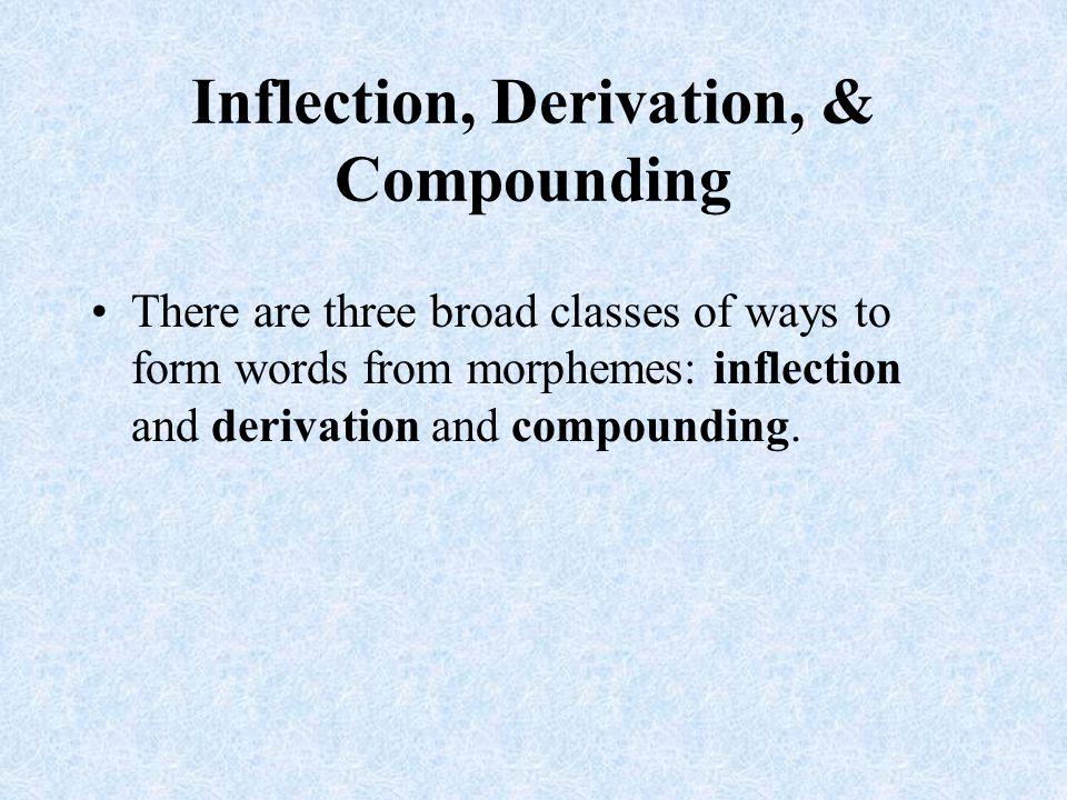 Inflection, Derivation, & Compounding