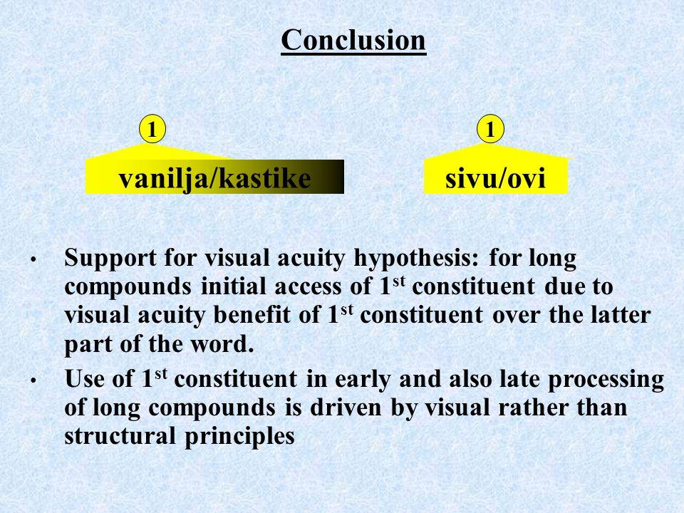 Conclusion vanilja/kastike sivu/ovi