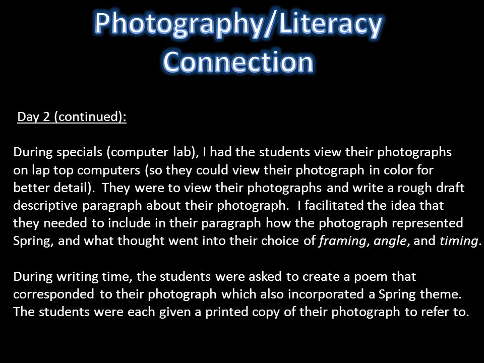 Photography/Literacy