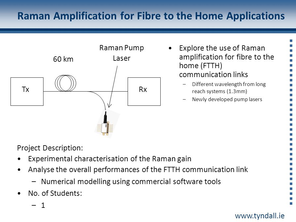 Raman Amplification for Fibre to the Home Applications