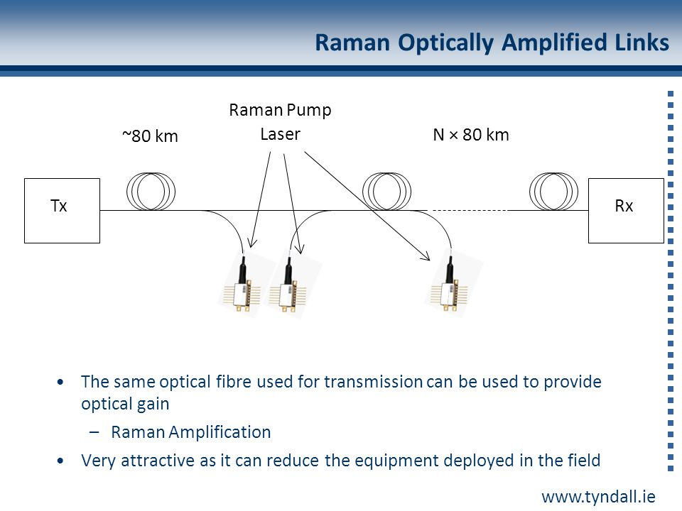 Raman Optically Amplified Links
