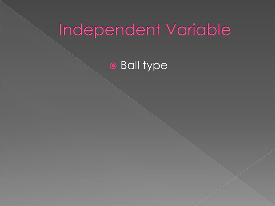 Independent Variable Ball type