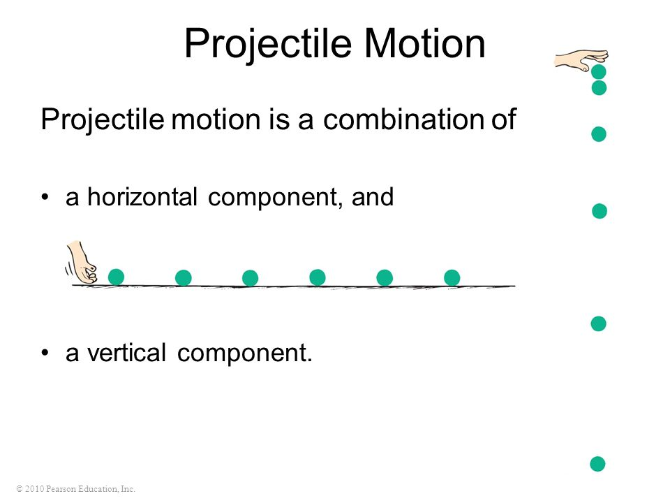 Projectile Motion Projectile motion is a combination of