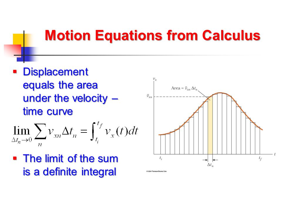 Motion Equations from Calculus