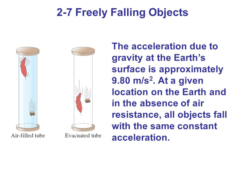 2-7 Freely Falling Objects