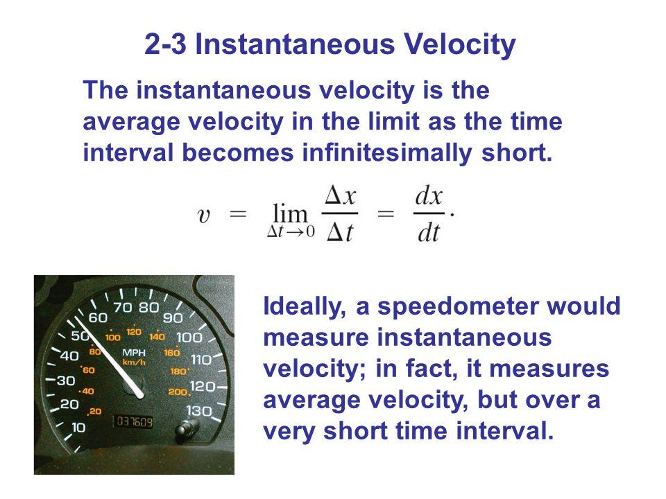 2-3 Instantaneous Velocity