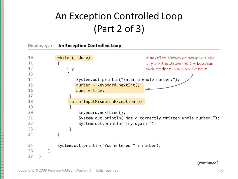 An Exception Controlled Loop (Part 2 of 3)