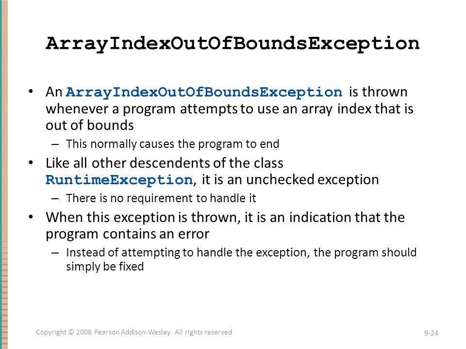 ArrayIndexOutOfBoundsException