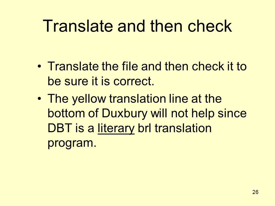 Translate and then check