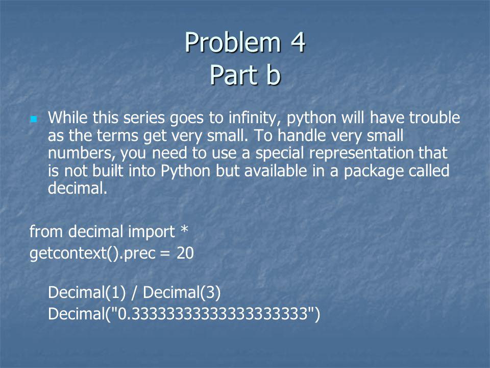 Problem 4 Part b
