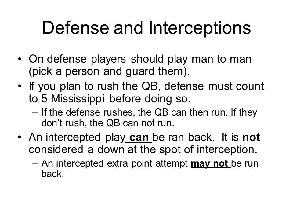 Defense and Interceptions