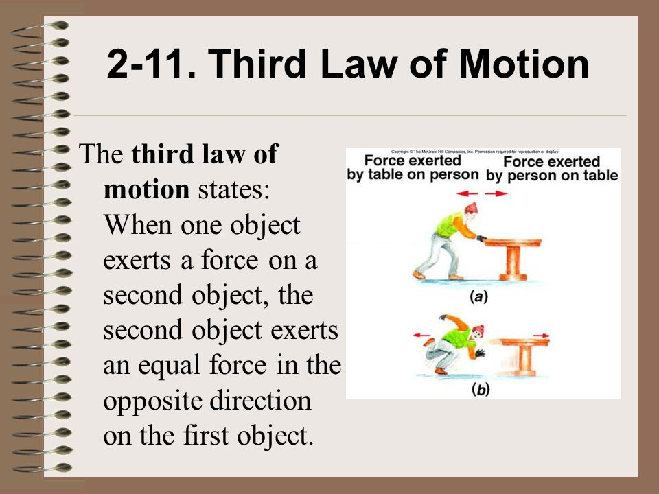 2-11. Third Law of Motion