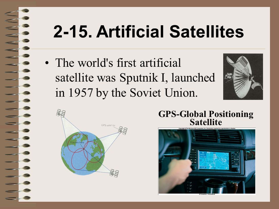 2-15. Artificial Satellites GPS-Global Positioning Satellite