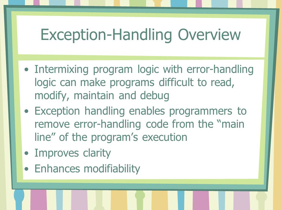 Exception-Handling Overview