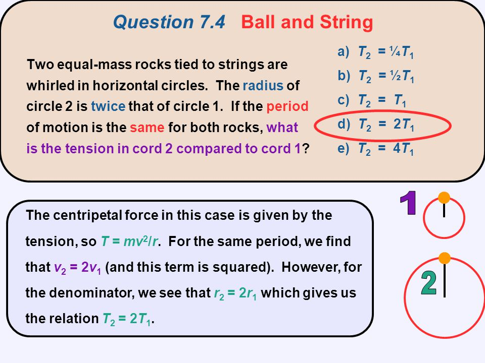Question 7.4 Ball and String