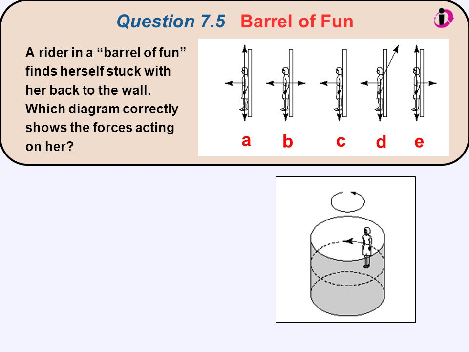 Question 7.5 Barrel of Fun a b c d e