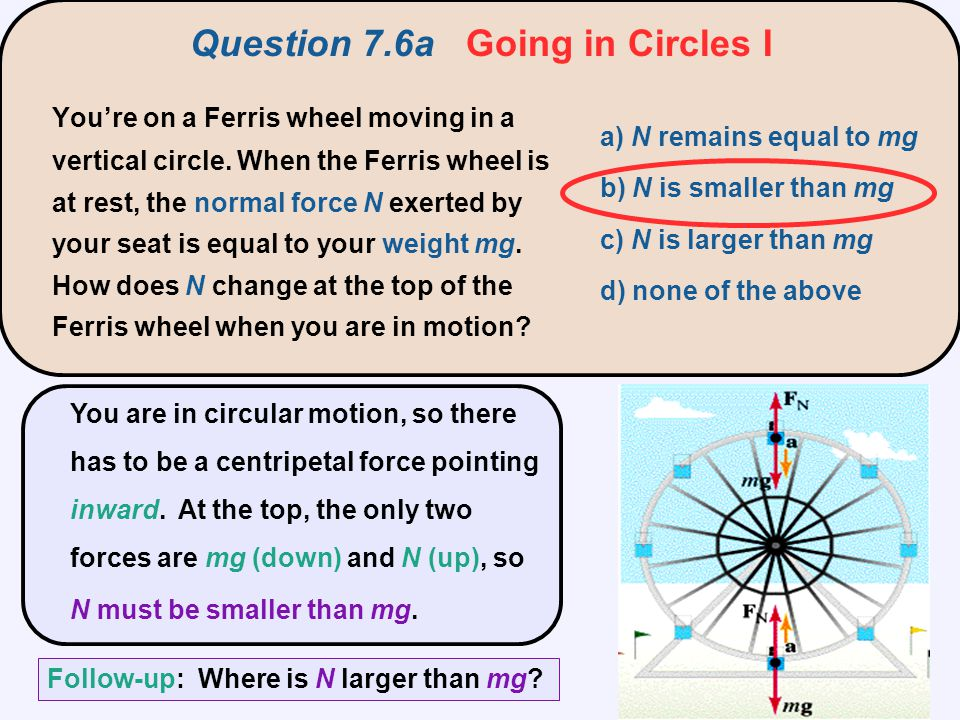 Question 7.6a Going in Circles I