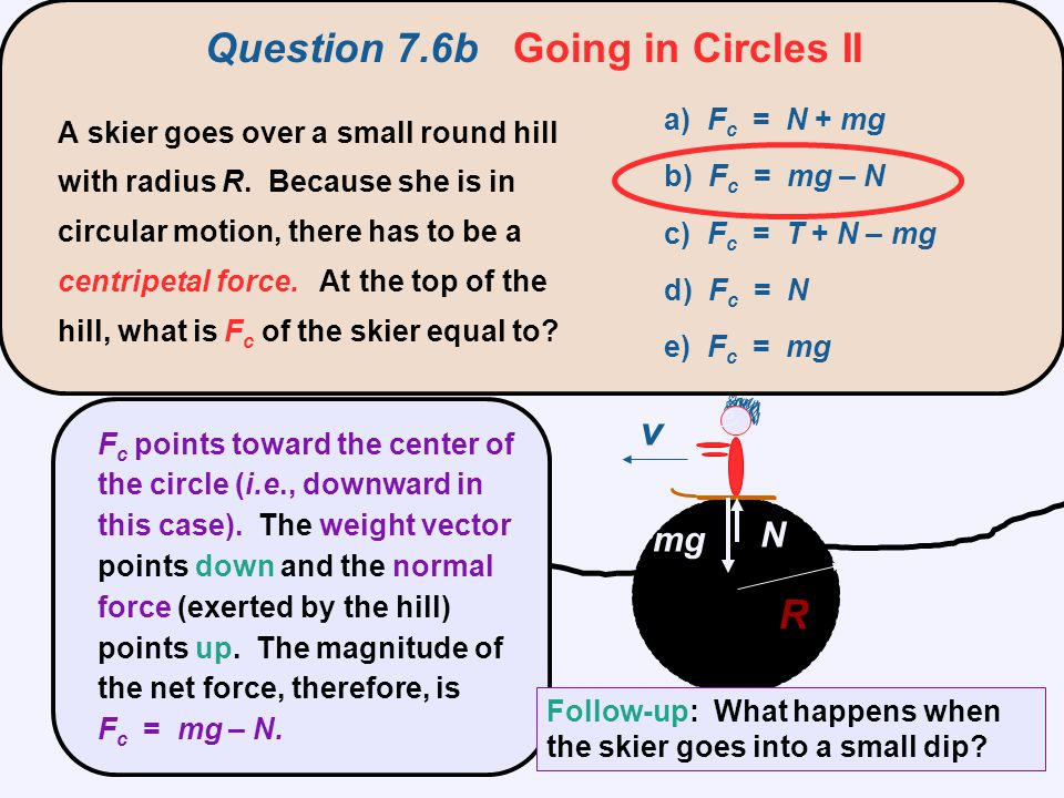 Question 7.6b Going in Circles II