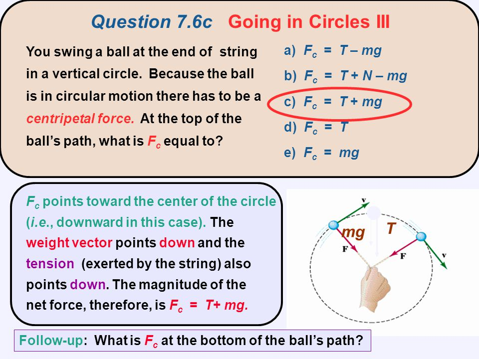 Question 7.6c Going in Circles III