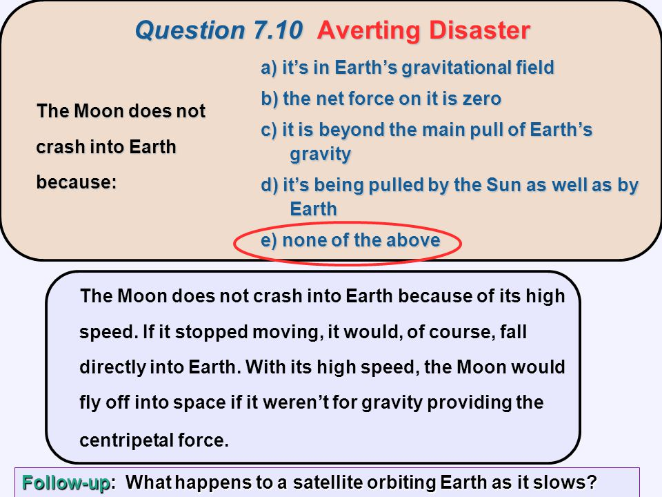 Question 7.10 Averting Disaster