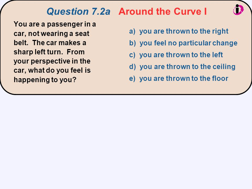 Question 7.2a Around the Curve I