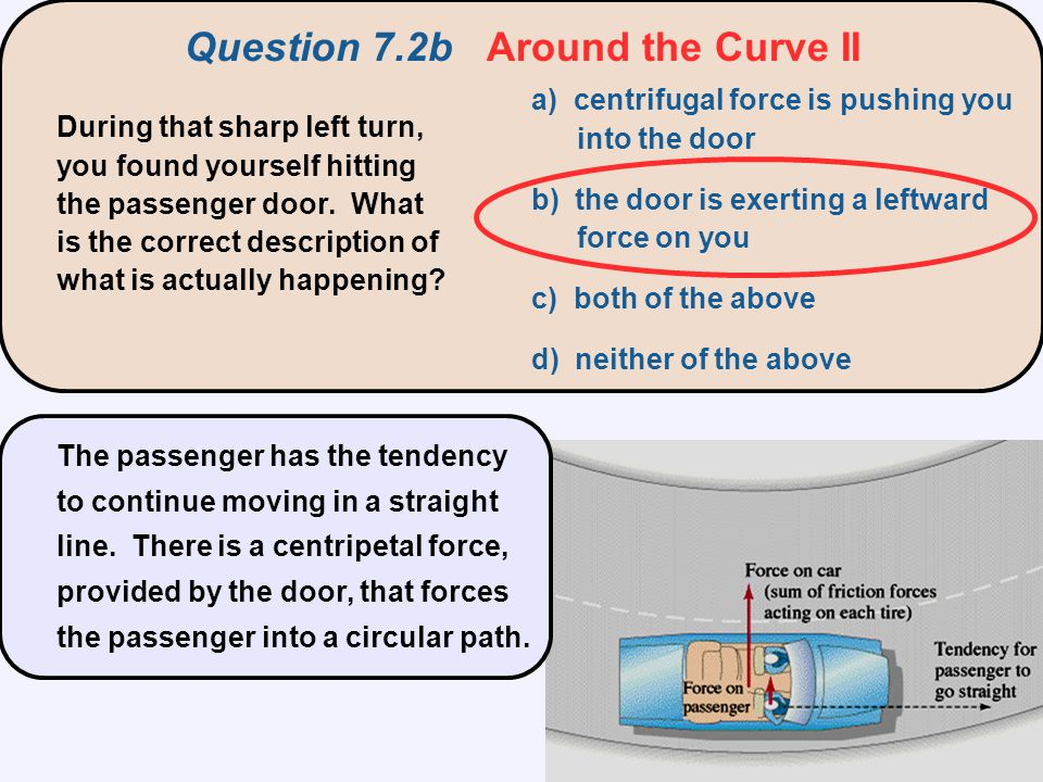 Question 7.2b Around the Curve II