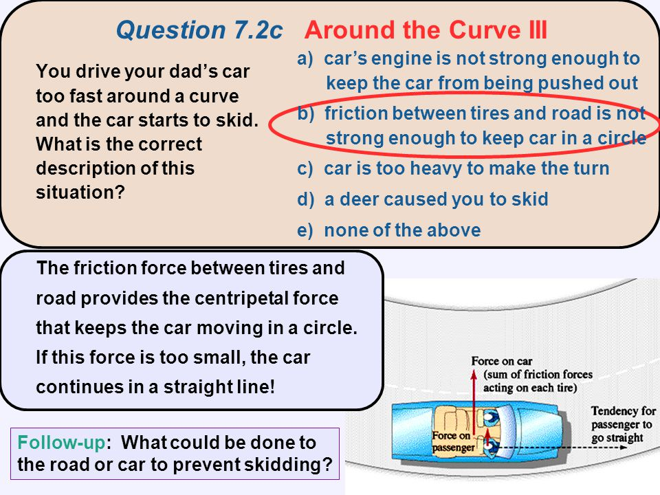 Question 7.2c Around the Curve III