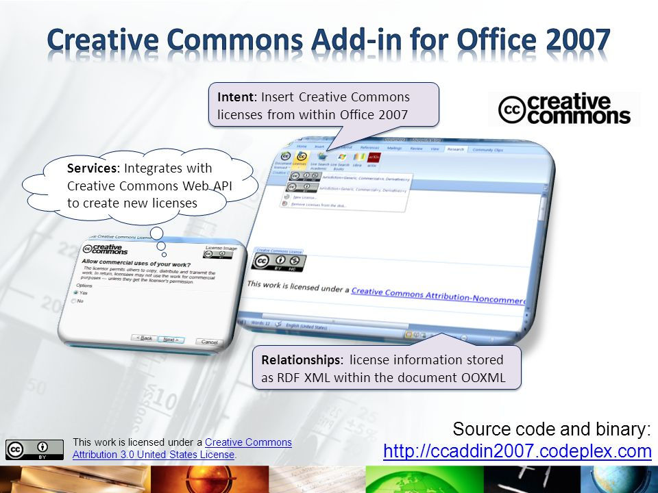 Creative Commons Add-in for Office 2007