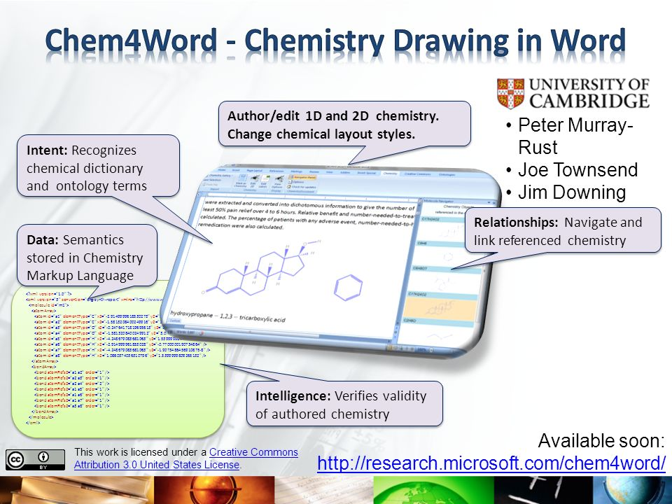 Chem4Word - Chemistry Drawing in Word