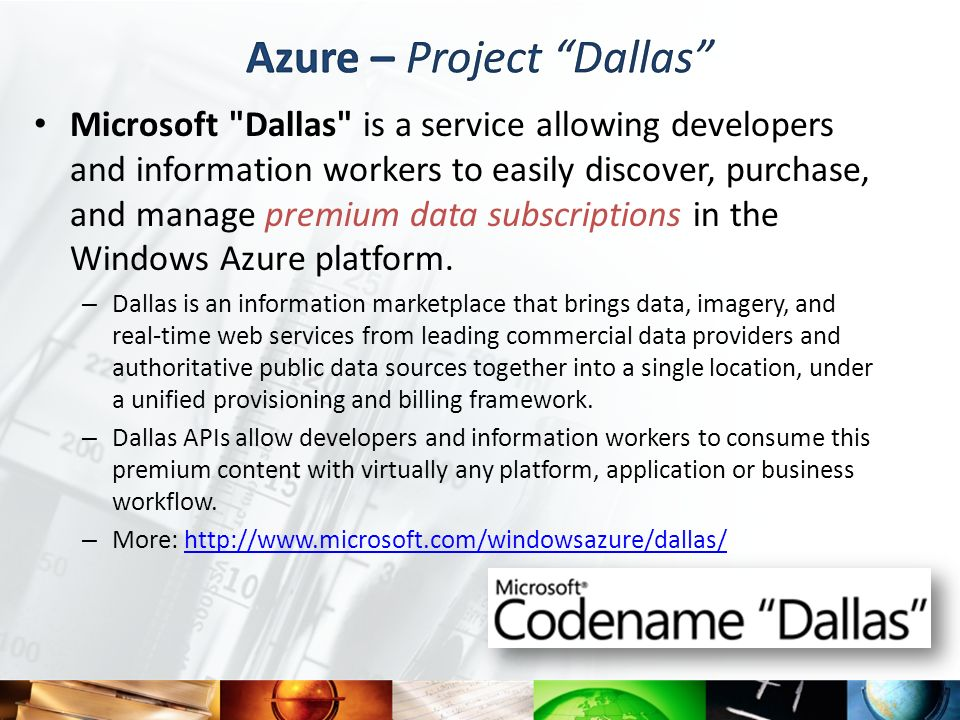 Azure – Project Dallas