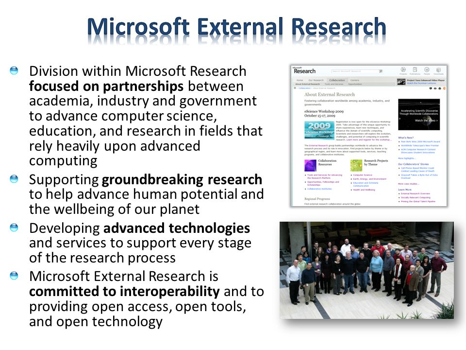 Microsoft External Research