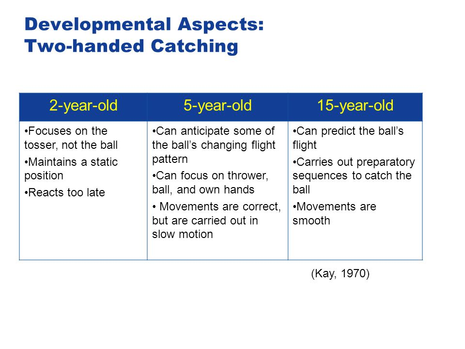 Developmental Aspects: Two-handed Catching