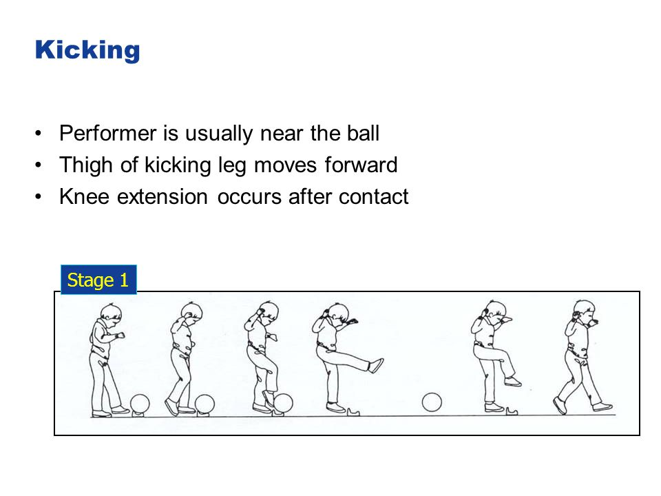 Kicking Performer is usually near the ball