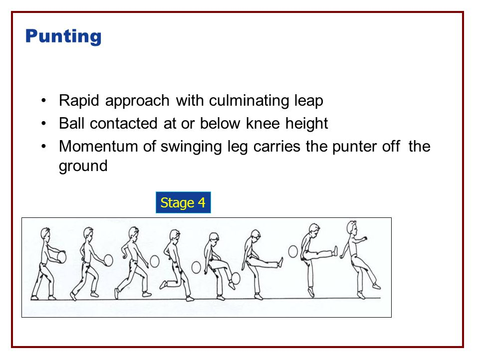Punting Rapid approach with culminating leap