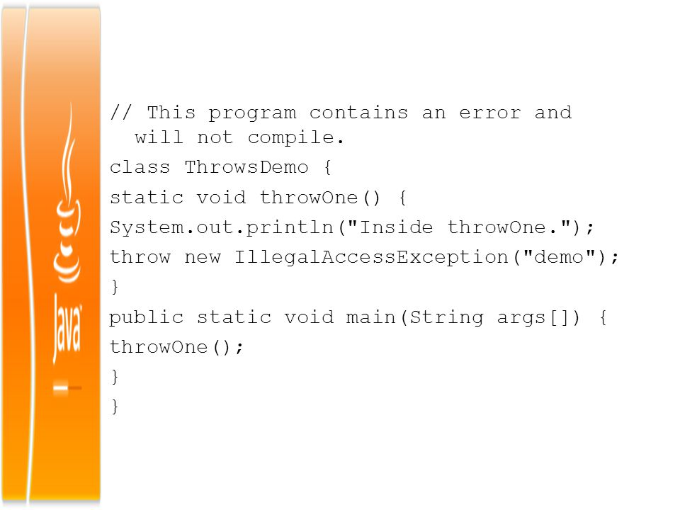// This program contains an error and will not compile