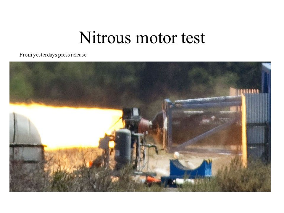 Nitrous motor test From yesterdays press release