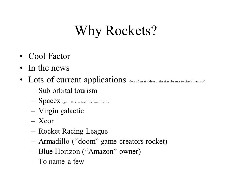 Why Rockets Cool Factor In the news