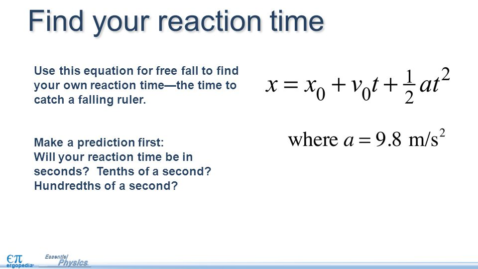 Find your reaction time