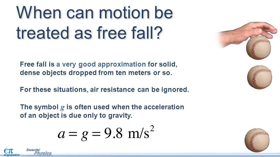 When can motion be treated as free fall