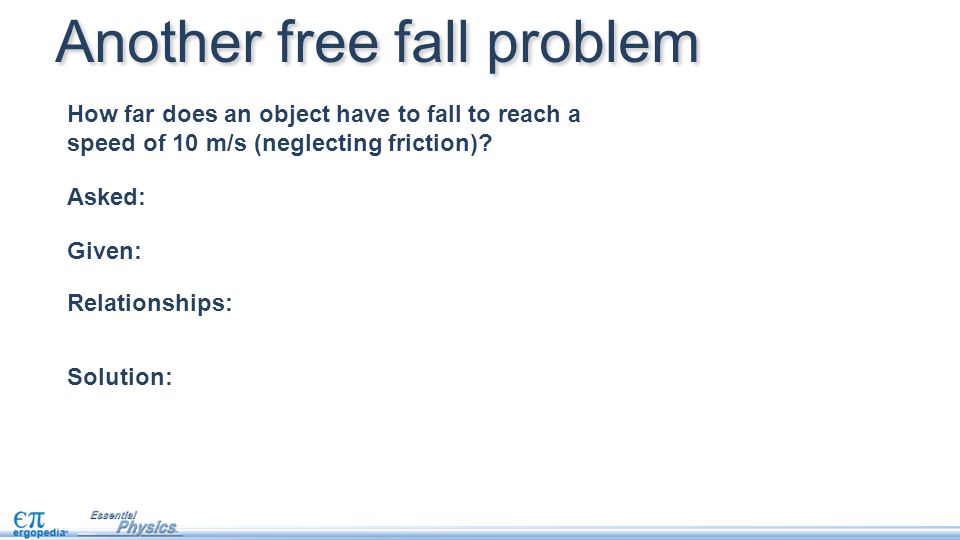 Another free fall problem