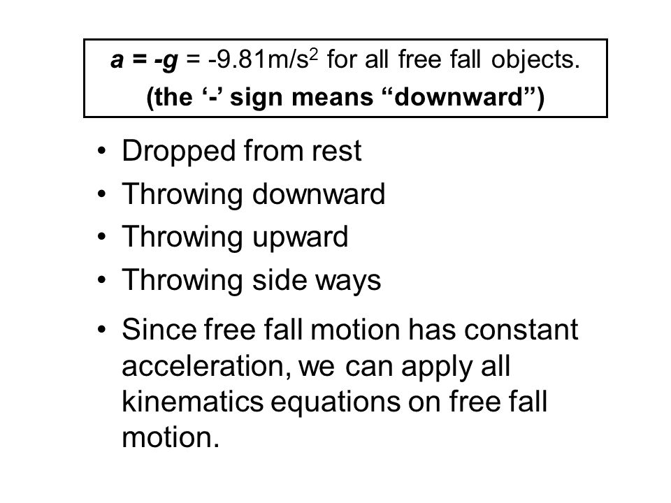 (the '-' sign means downward )