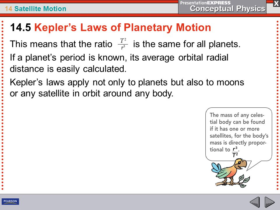14.5 Kepler's Laws of Planetary Motion