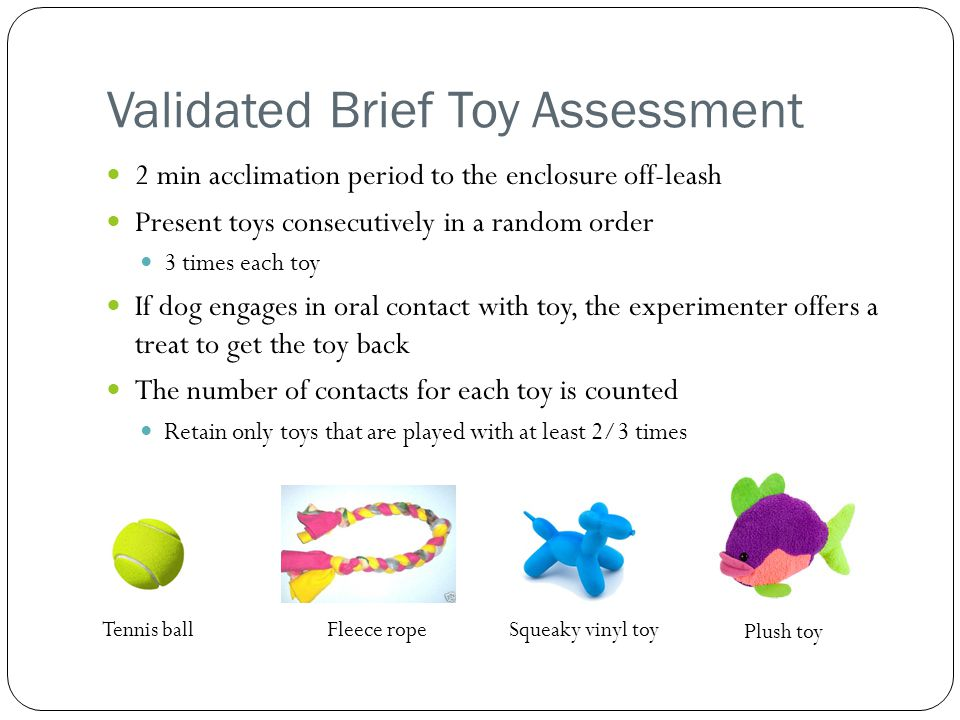 Validated Brief Toy Assessment