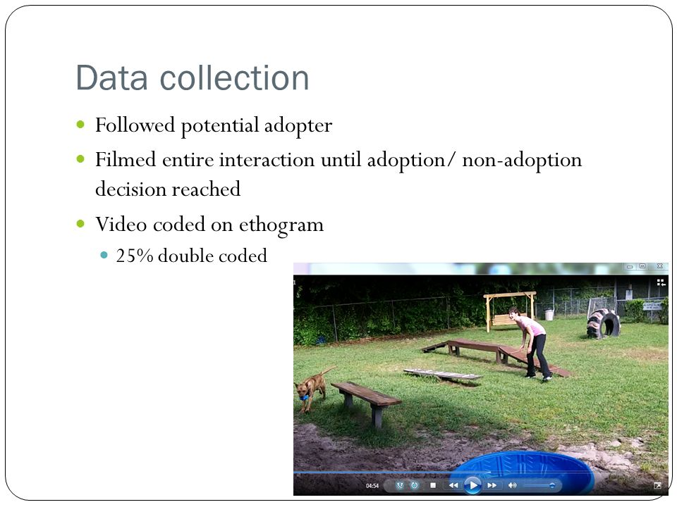Data collection Followed potential adopter